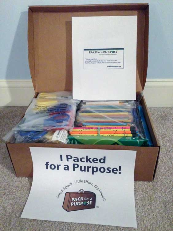 Pack for a Purpose supplies