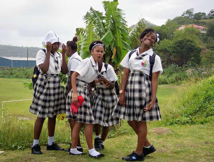 School girls in St. Lucia