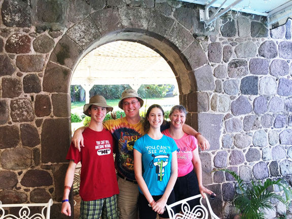 Anna Seals' family in St. Kitts
