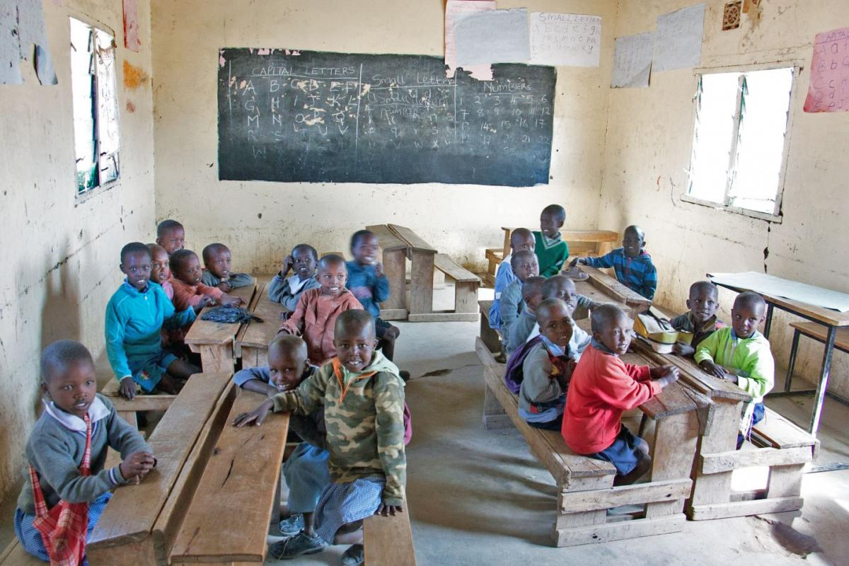 Children in classroom at Ngosuani Primary School