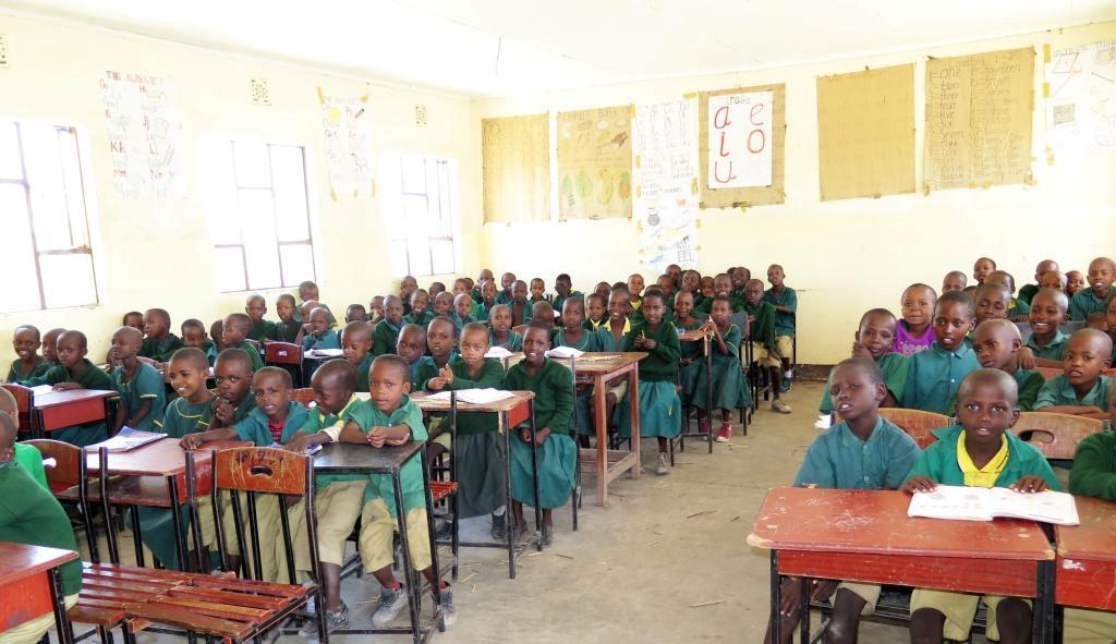 First-grade children at boarding school supported by Manyara Ranch