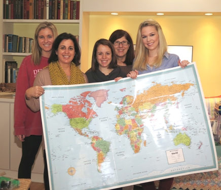 PfaP volunteers with map