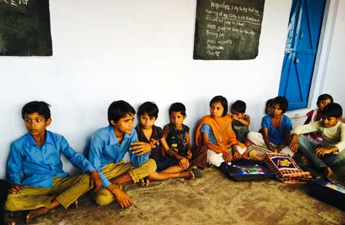 Students at a school supported by Ibex Expeditions in India