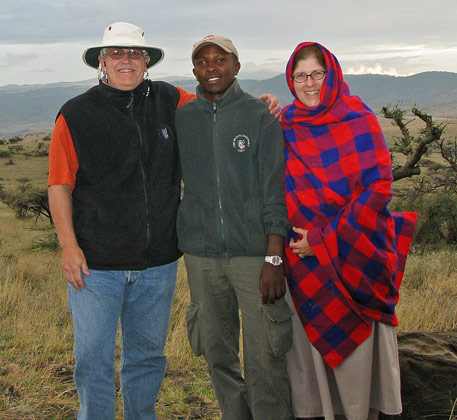 Rebecca and Scott Rothney in Africa