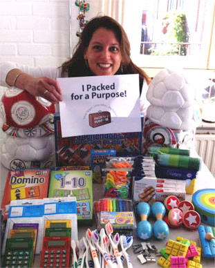 A traveler who participated in Pack for a Purpose