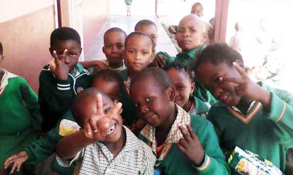 Borite Primary School children