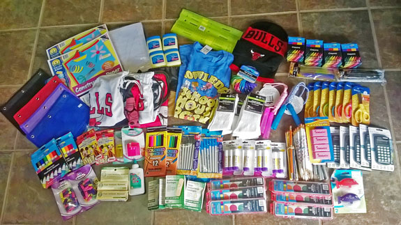 School supplies from PfaP travelers