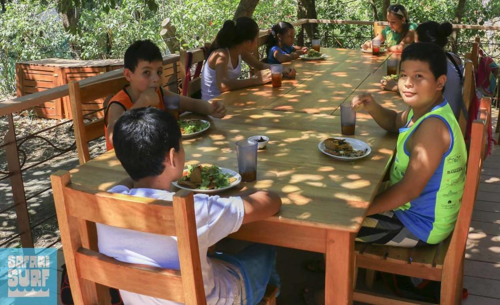 lunch at Safari Surf School